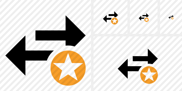 Exchange Horizontal Star Icon