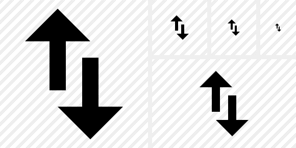 Exchange Vertical Symbol