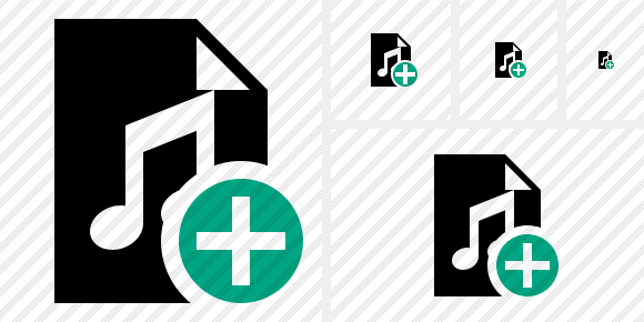 File Music Add Icon