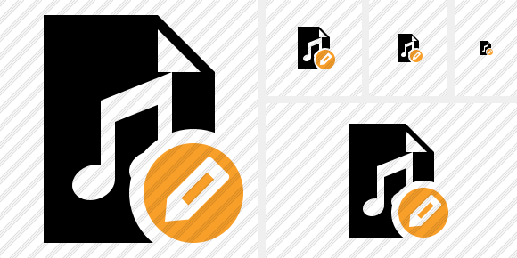 File Music Edit Icon