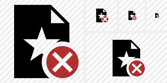 File Star Cancel Symbol