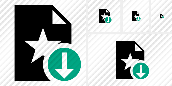 File Star Download Symbol