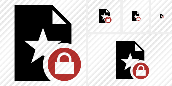 File Star Lock Icon