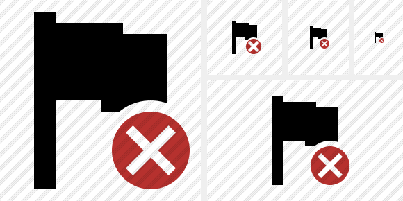 Flag Cancel Symbol