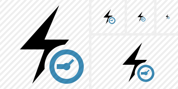 Flash Clock Icon