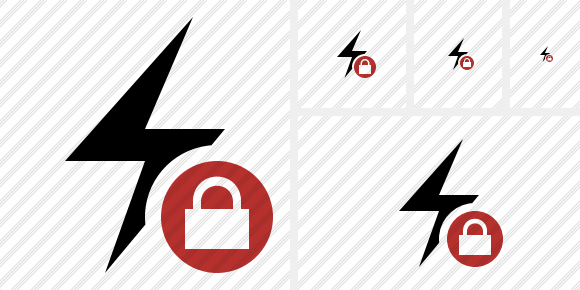 Flash Lock Symbol