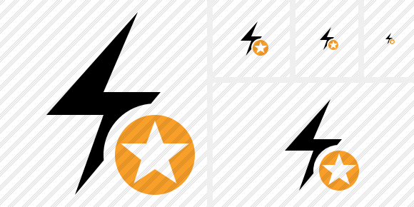Flash Star Symbol