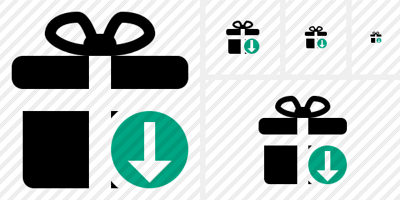 Gift Download Symbol