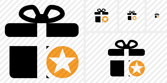 Gift Star Icon