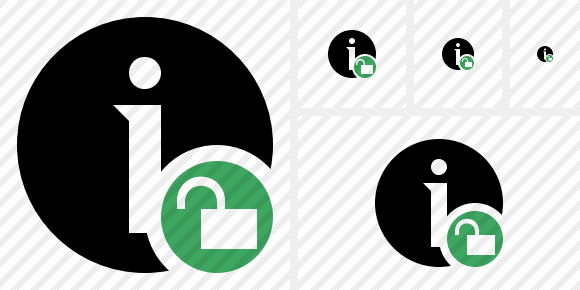 Information Unlock Icon