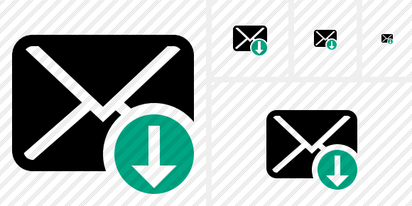 Mail Download Icon