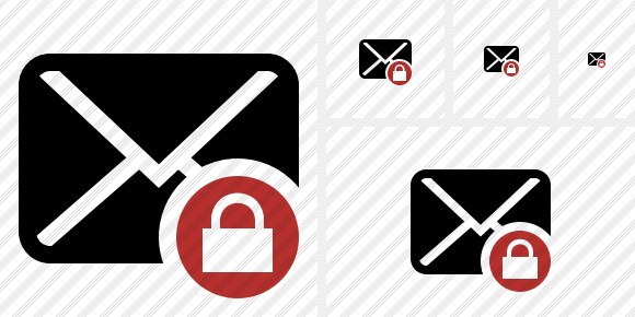 Mail Lock Icon