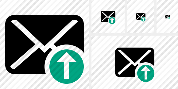 Mail Upload Icon