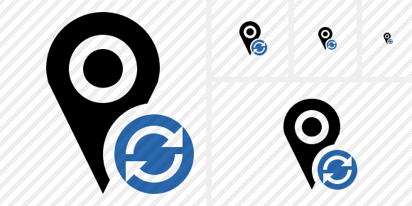 Map Pin Refresh Icon