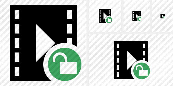 Movie Unlock Symbol