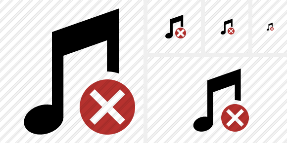 Music Cancel Symbol