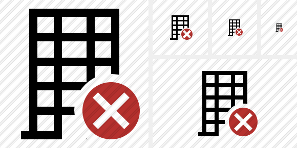 Office Building Cancel Icon