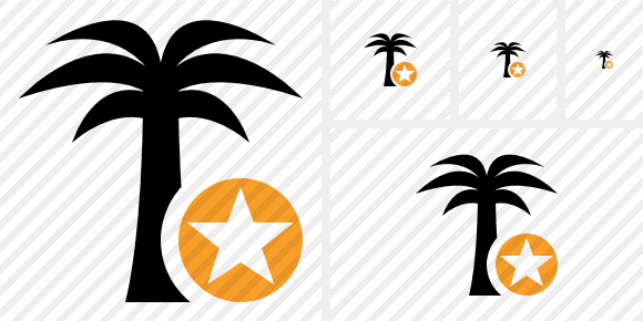 Palmtree Star Icon