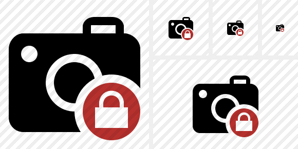 Photocamera Lock Icon