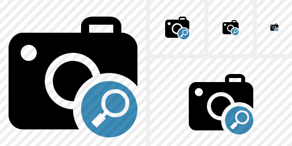 Photocamera Search Symbol