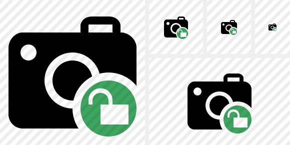 Photocamera Unlock Icon