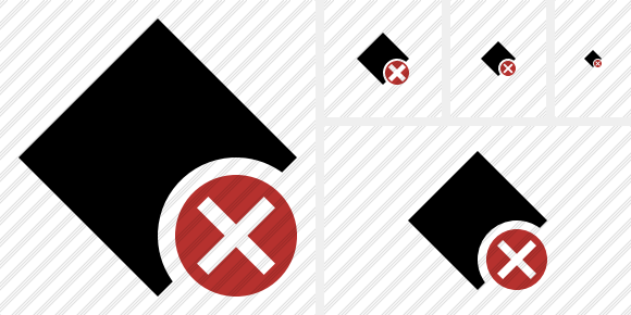 Rhombus Cancel Icon