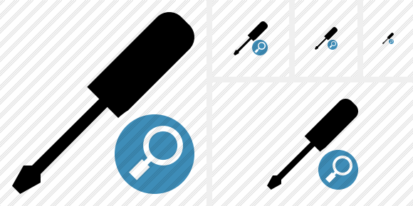Screwdriver Search Symbol