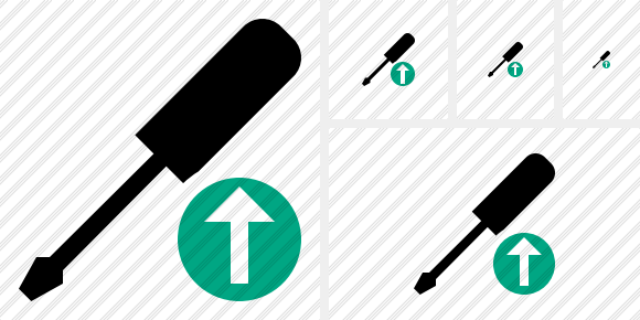 Screwdriver Upload Symbol