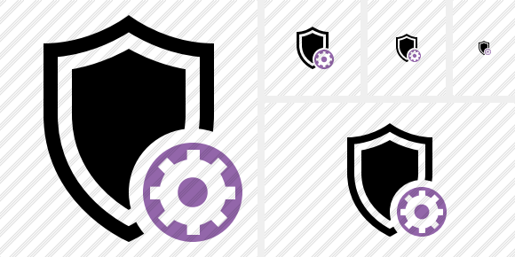 Shield Settings Icon