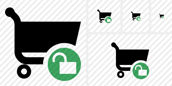 Shopping Unlock Symbol