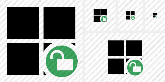 Windows Unlock Icon