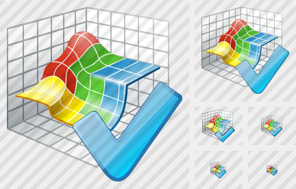 3D Graph Ok Icon