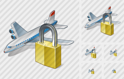 Airplane Locked Icon