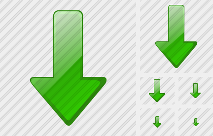 Arrow Down Green Icon