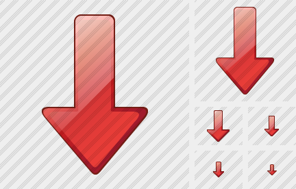 Arrow Down Red Symbol