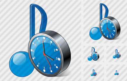 Audio Clock Icon