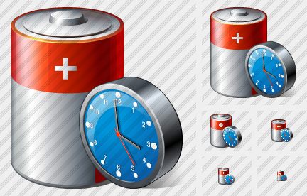 Battery Clock Icon