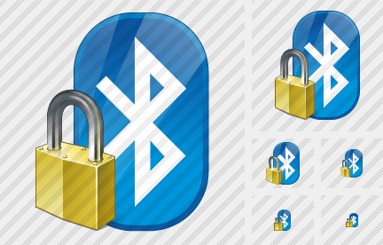 Bluetooth Locked Symbol