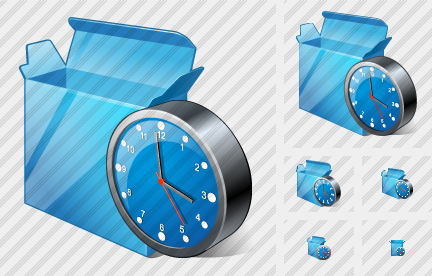 Box Open Clock Icon