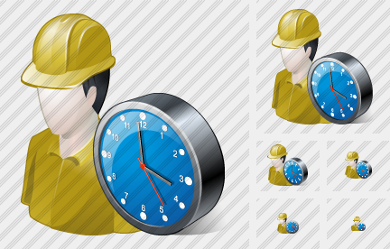 Builder Clock Icon