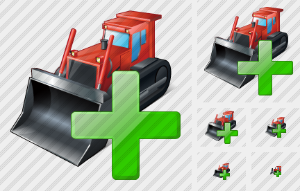 Bulldozer Add Icon