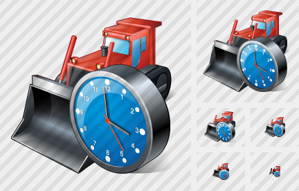 Bulldozer Clock Icon