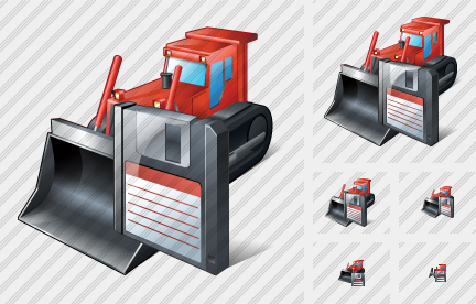 Bulldozer Save Icon