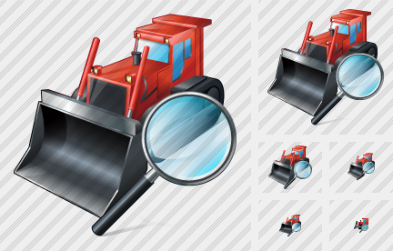 Bulldozer Search 2 Icon