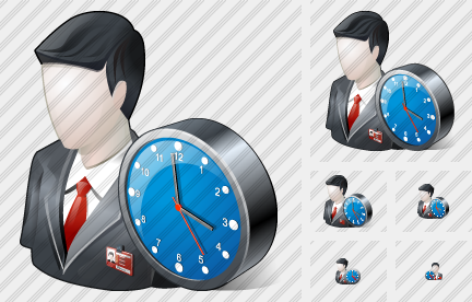 Business User Clock Icon