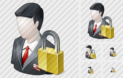 Business User Locked Icon