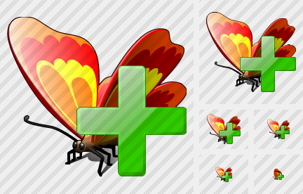 Butterfly Add Icon