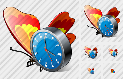 Butterfly Clock Symbol