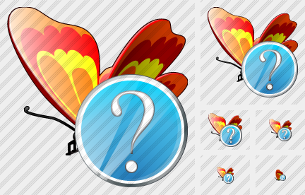 Butterfly Question Icon