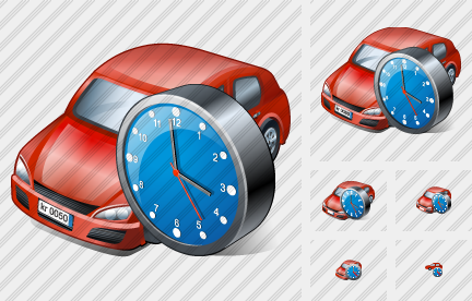 Car Clock Icon